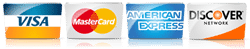 Anderson Safe accepts visa, amex, discover, and master card credit cards